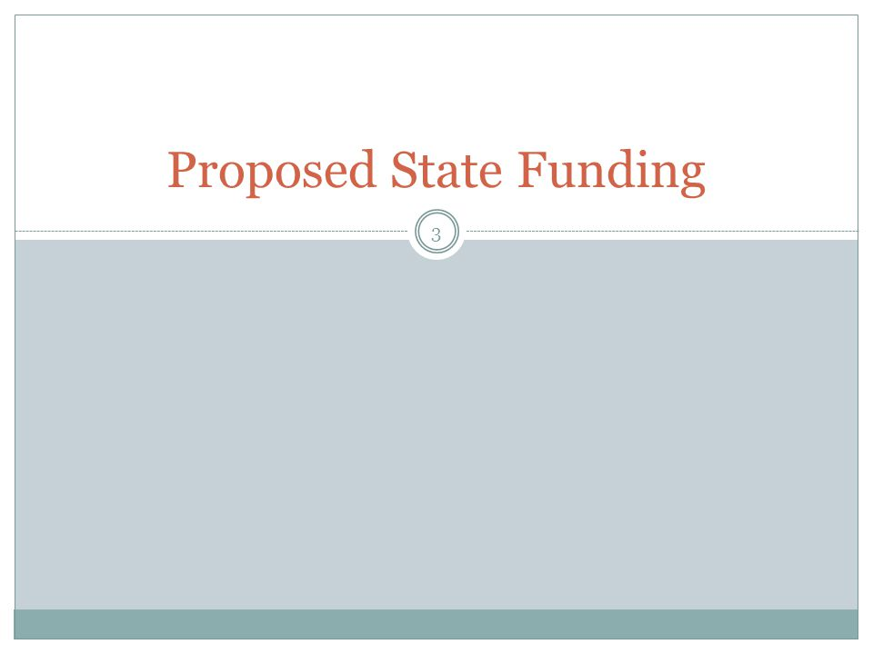 Proposed State Funding 3