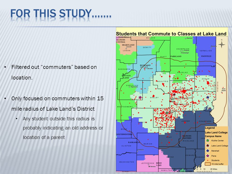 Where are the students in relation to main campus (Mattoon, IL).