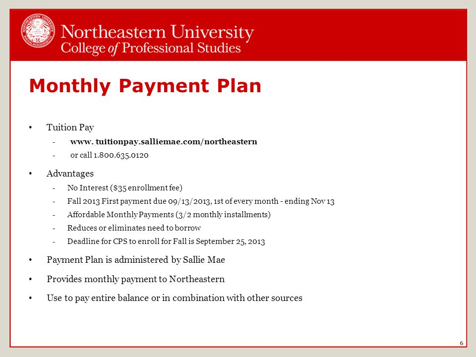Monthly Payment Plan Tuition Pay -www.