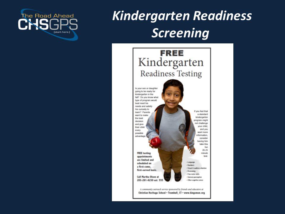 Kindergarten Readiness Screening