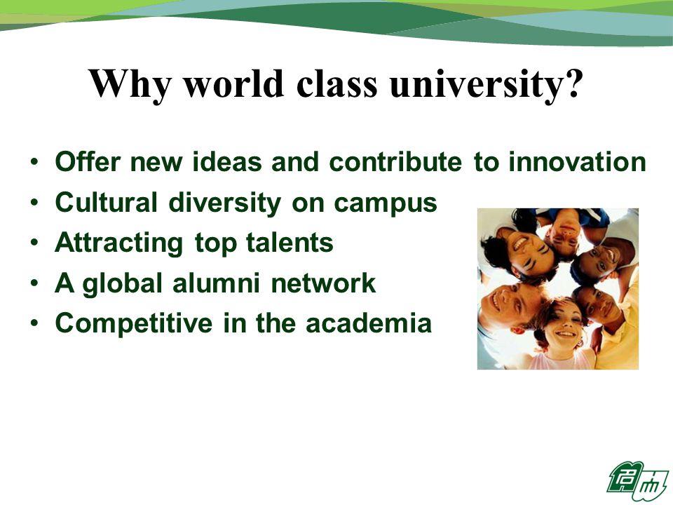 Why world class university.