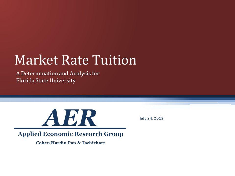 Cohen Hardin Pan & Tschirhart Applied Economic Research Group AER