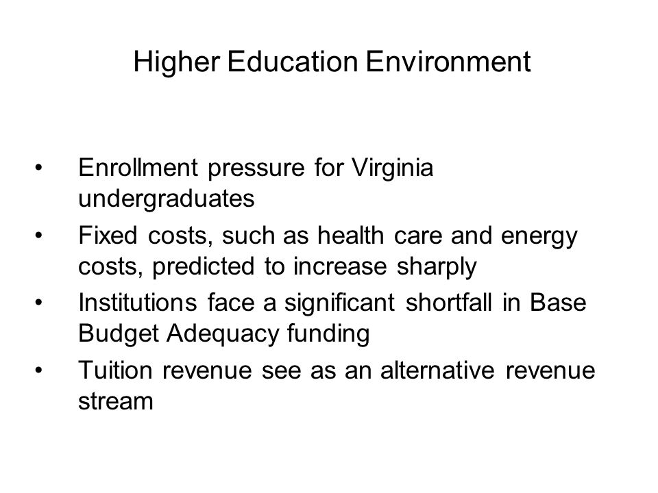 State Support Reductions Result in Tuition Increases
