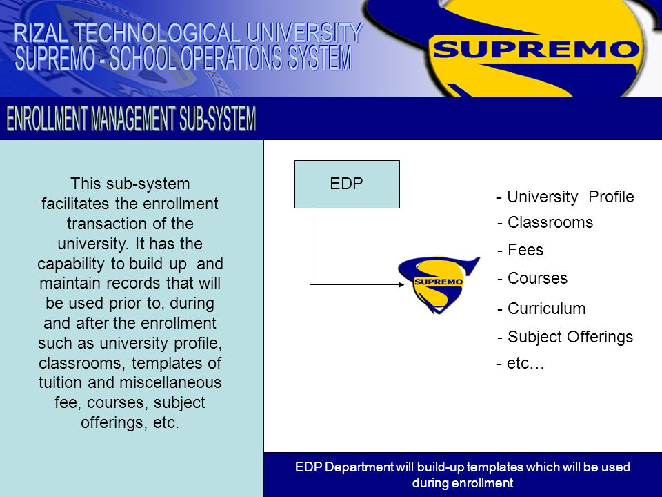 This sub-system facilitates the encoding of grades of the students.