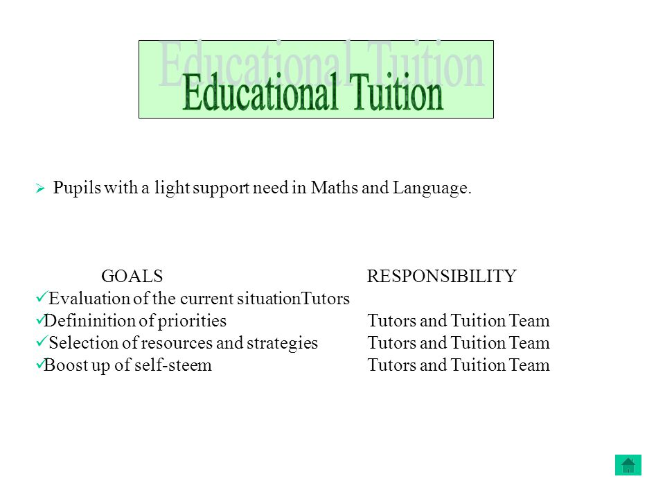  Pupils with a light support need in Maths and Language.