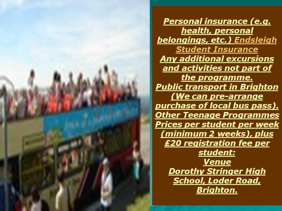 Personal insurance (e.g.