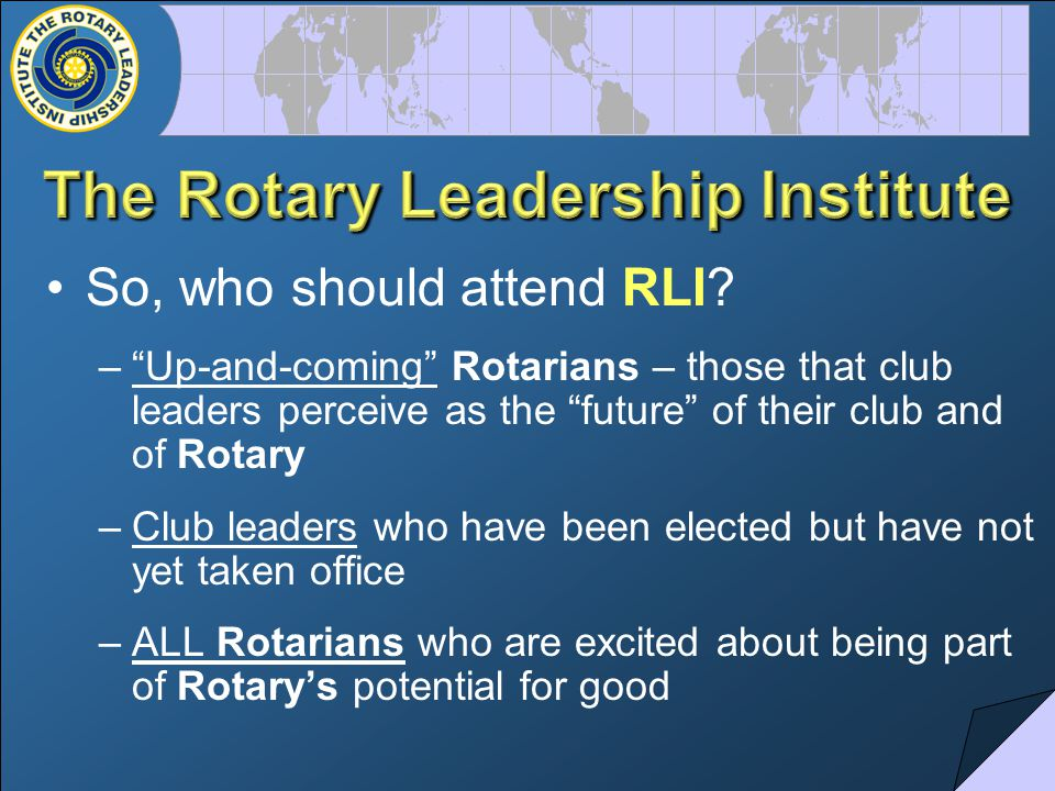 So, who should attend RLI.