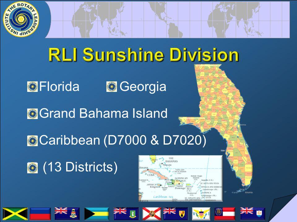 Florida Georgia Grand Bahama Island Caribbean (D7000 & D7020) (13 Districts)