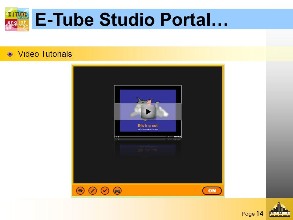 Page 14 Video Tutorials E-Tube Studio Portal…