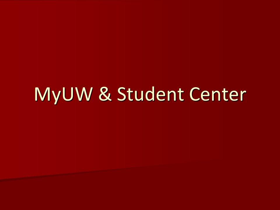 MyUW & Student Center