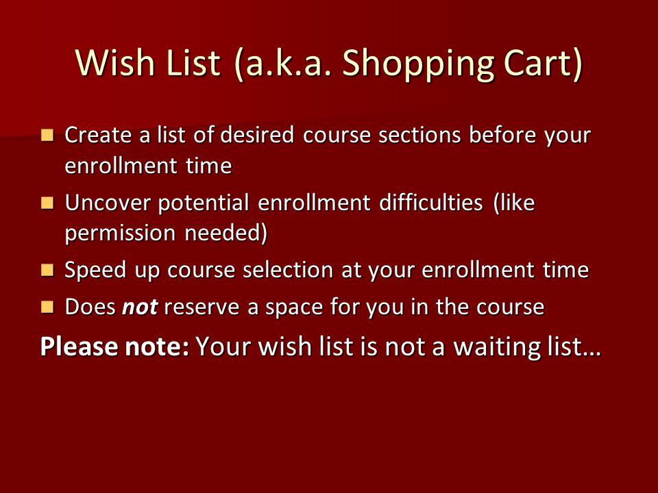 Wish List (a.k.a.