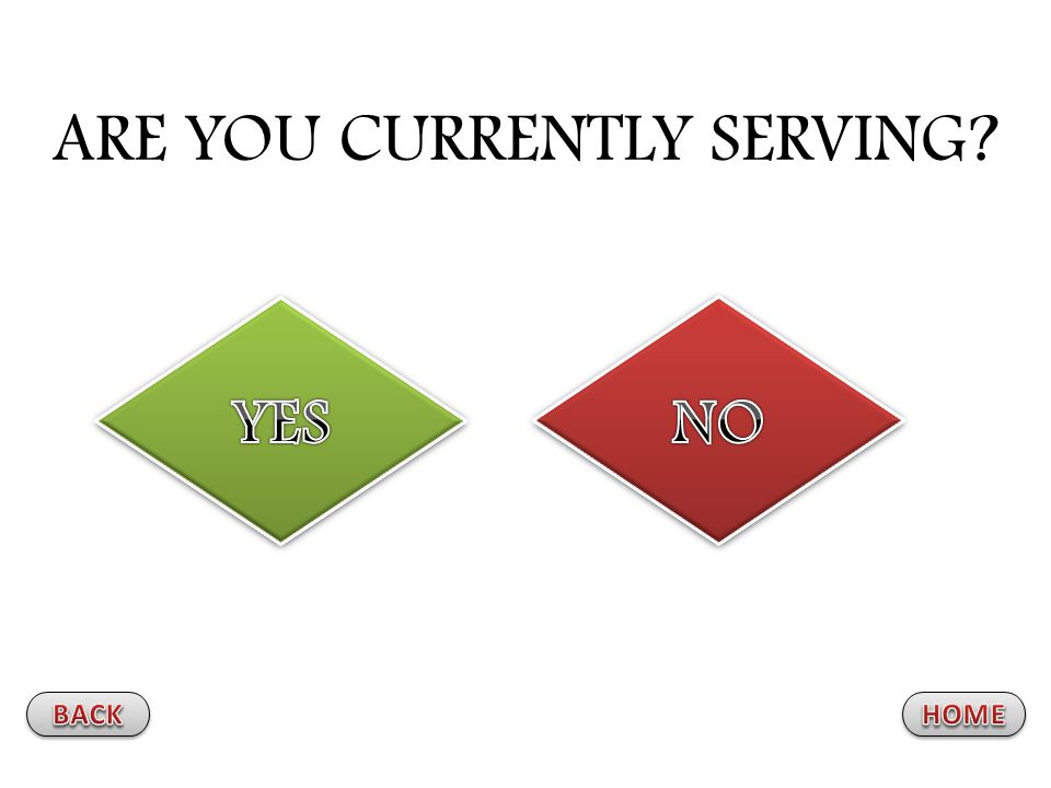 ARE YOU CURRENTLY SERVING?