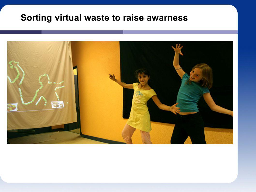 Sorting virtual waste to raise awarness