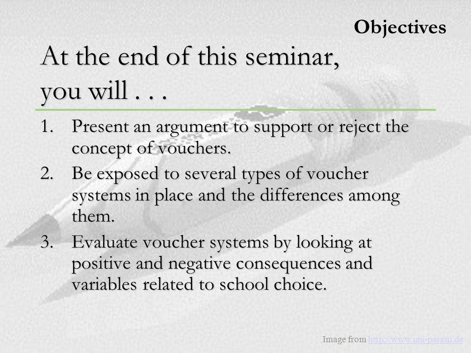 Pre-Assessment Results D o y o u s u p p o r t t h e c o n c e p t o f v o u c h e r s .
