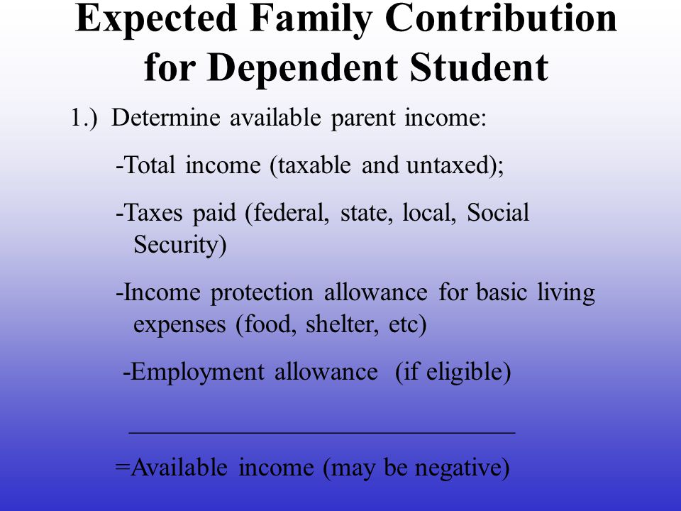 Independent Student Definition At least 24 years of age by December 31 st of the award year Graduate or professional student; Married; Has legal dependents other than a spouse; Orphan or ward of the court Veteran of the U.S.