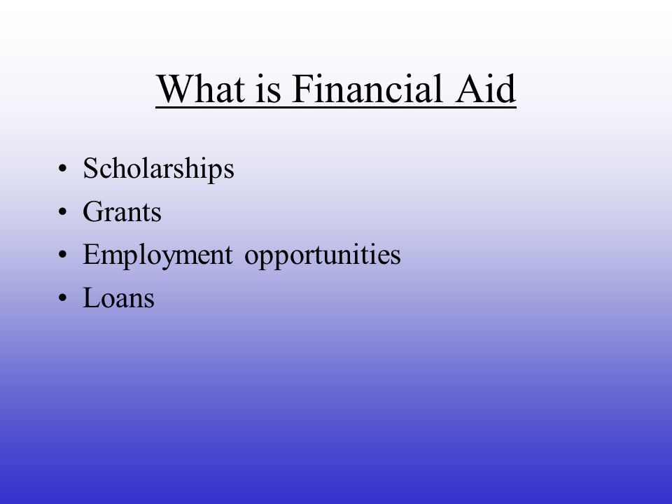 To the annual Financial Aid Information Night at AHS