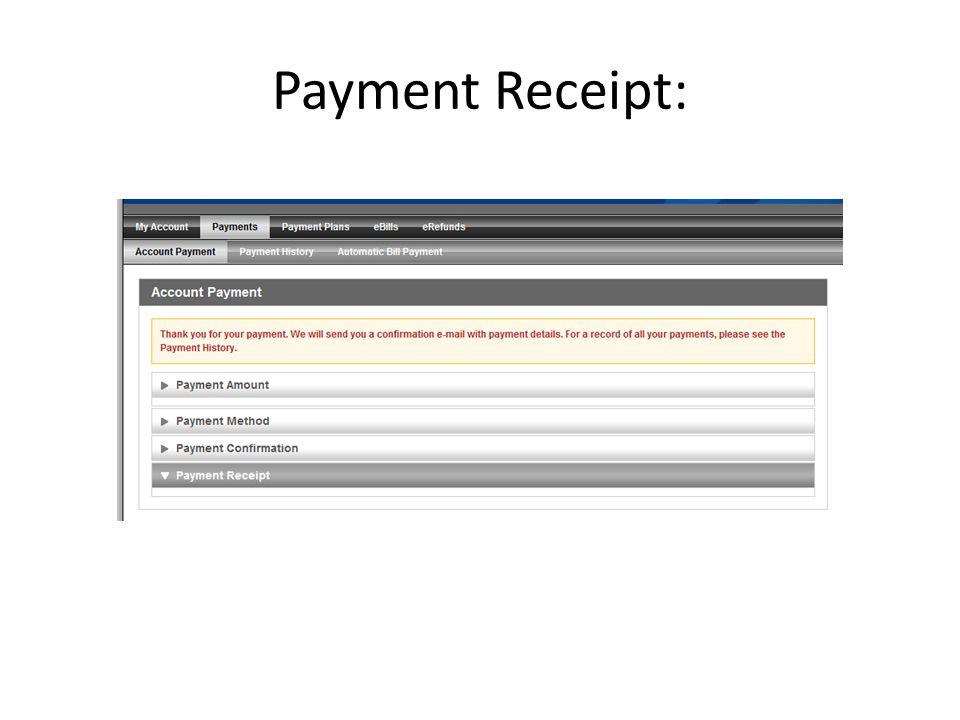 Payment Receipt: