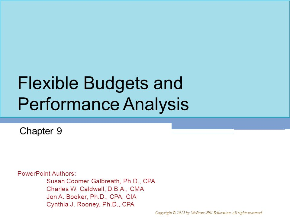 9-22 Flexible Budgets with Multiple Cost Drivers Larry's Budget Based on More than One Cost Driver