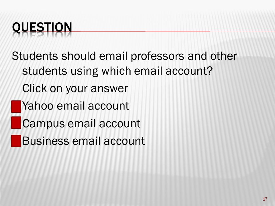 Students should email professors and other students using which email account.