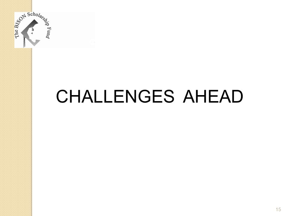 CHALLENGES AHEAD 15