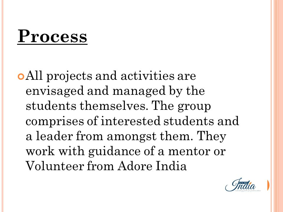 For starting an Action Group of Adore India, please contact the Adore India volunteer or write to contact@adoreindia.net Or visit Adoreindia.net