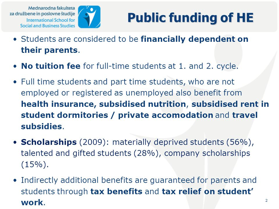 3 Transfers and payment to households include all scholarships and child benefits.