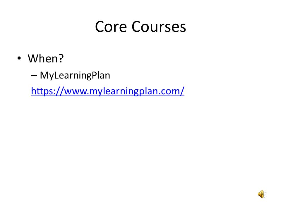 Core Courses Where.