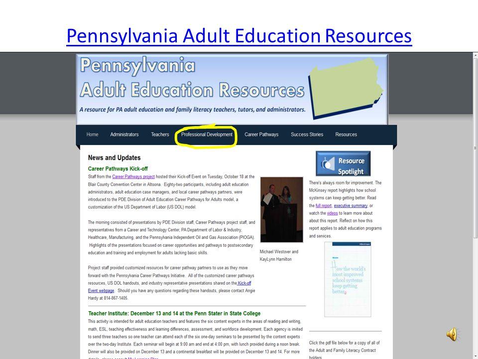 Pennsylvania Adult Education Resources