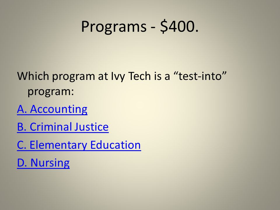 Programs - $200. Try Again!