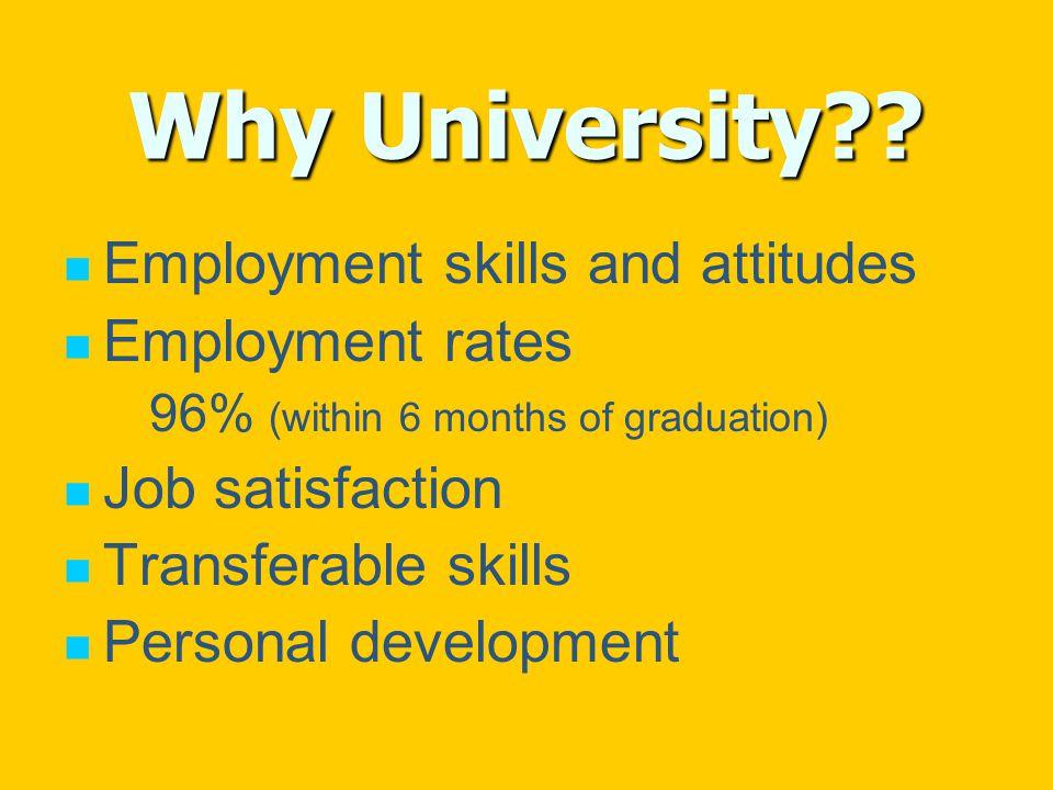 Why University .
