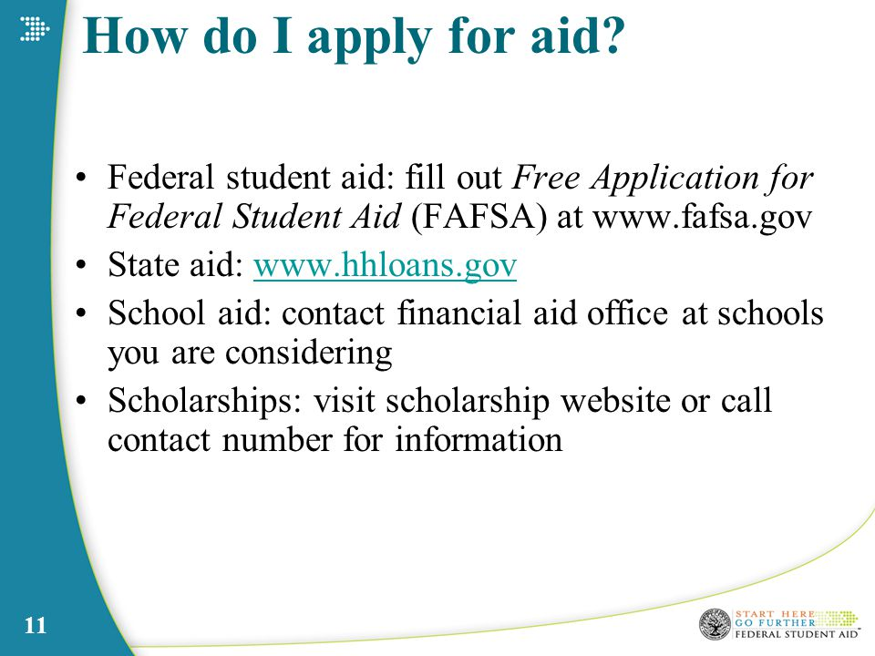 11 How do I apply for aid.