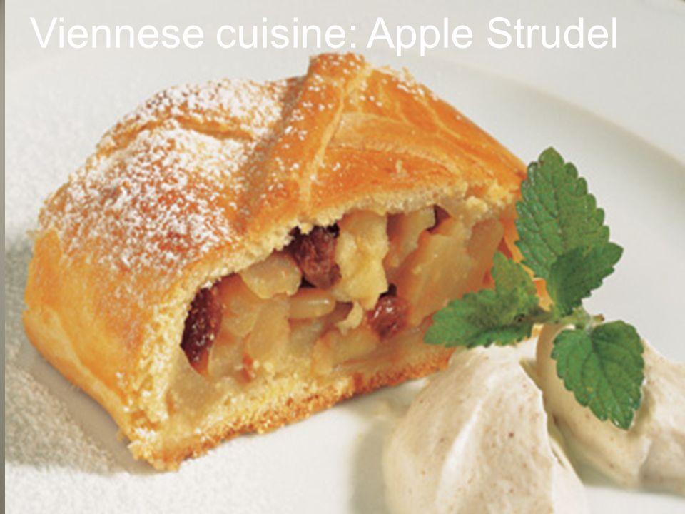 Viennese cuisine: Apple Strudel