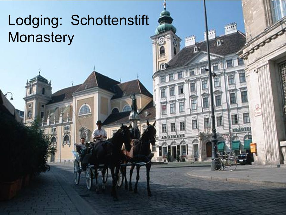 Lodging: Schottenstift Monastery