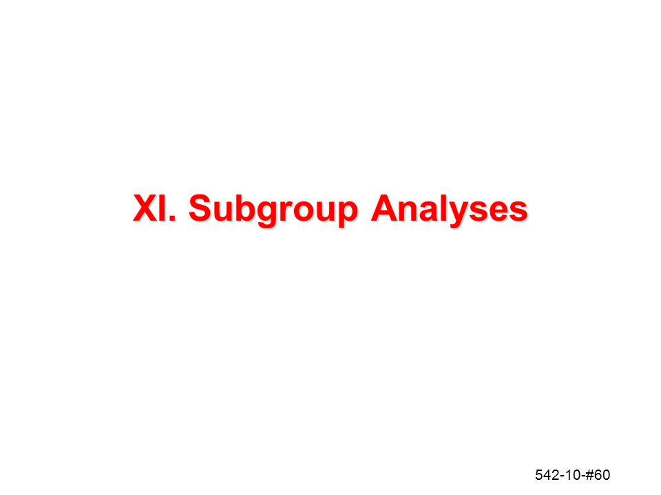 542-10-#60 XI. Subgroup Analyses