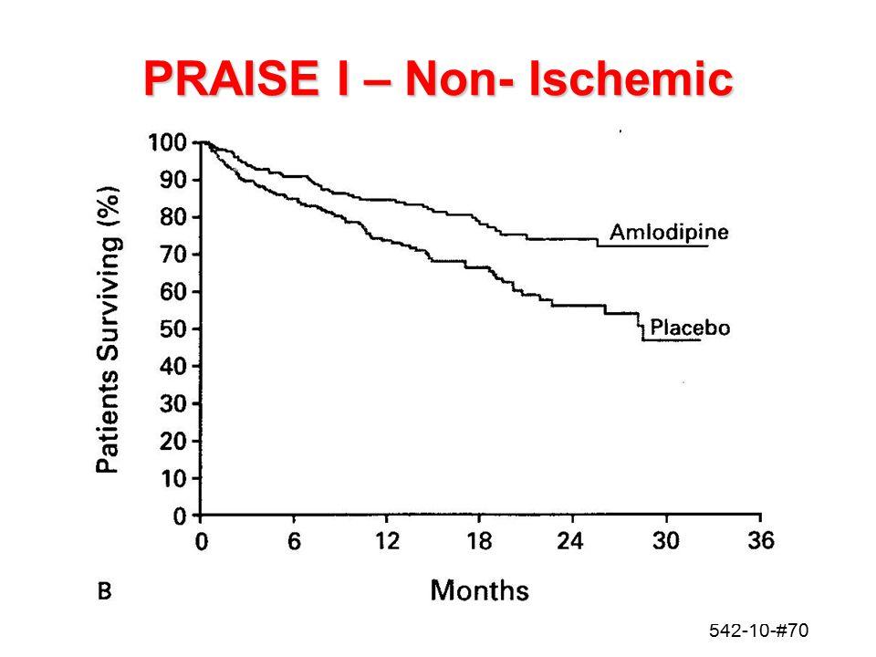 542-10-#70 PRAISE I – Non- Ischemic