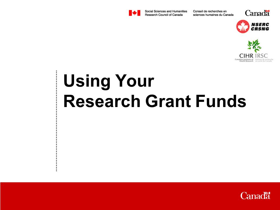 Date Using Your Research Grant Funds