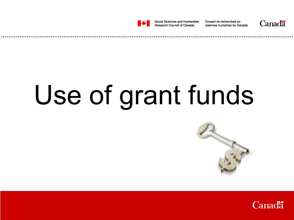 Use of grant funds