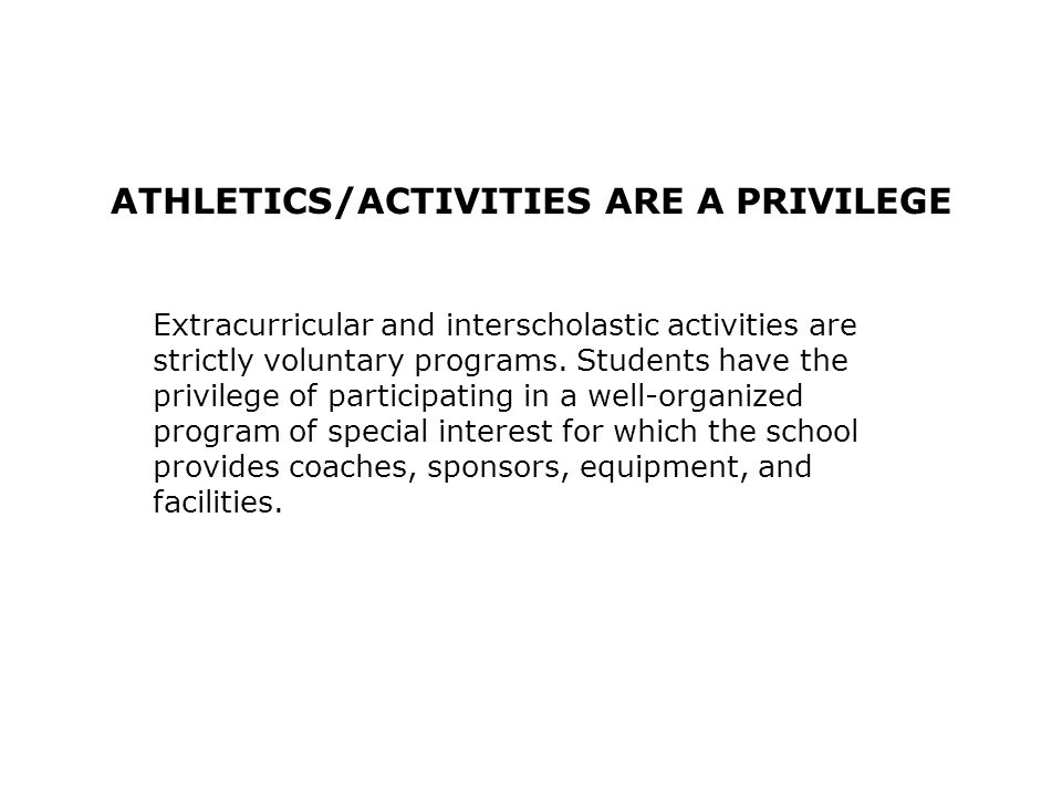BE AWARE THAT COACHES ARE RESPONSIBLE FOR: 2.