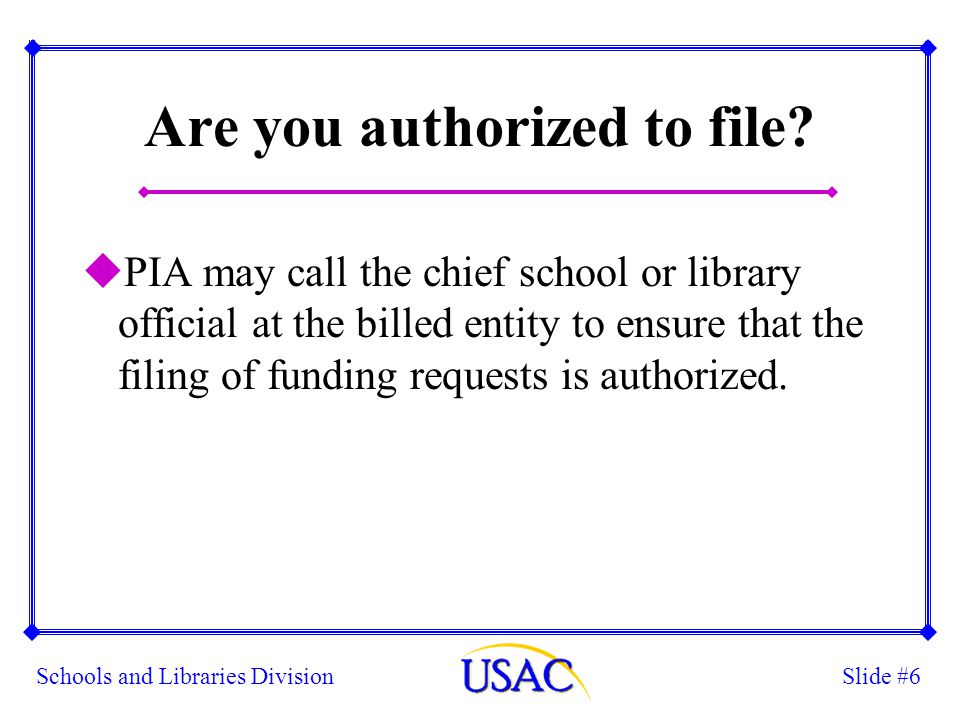 Slide #17Schools and Libraries Division QUESTIONS