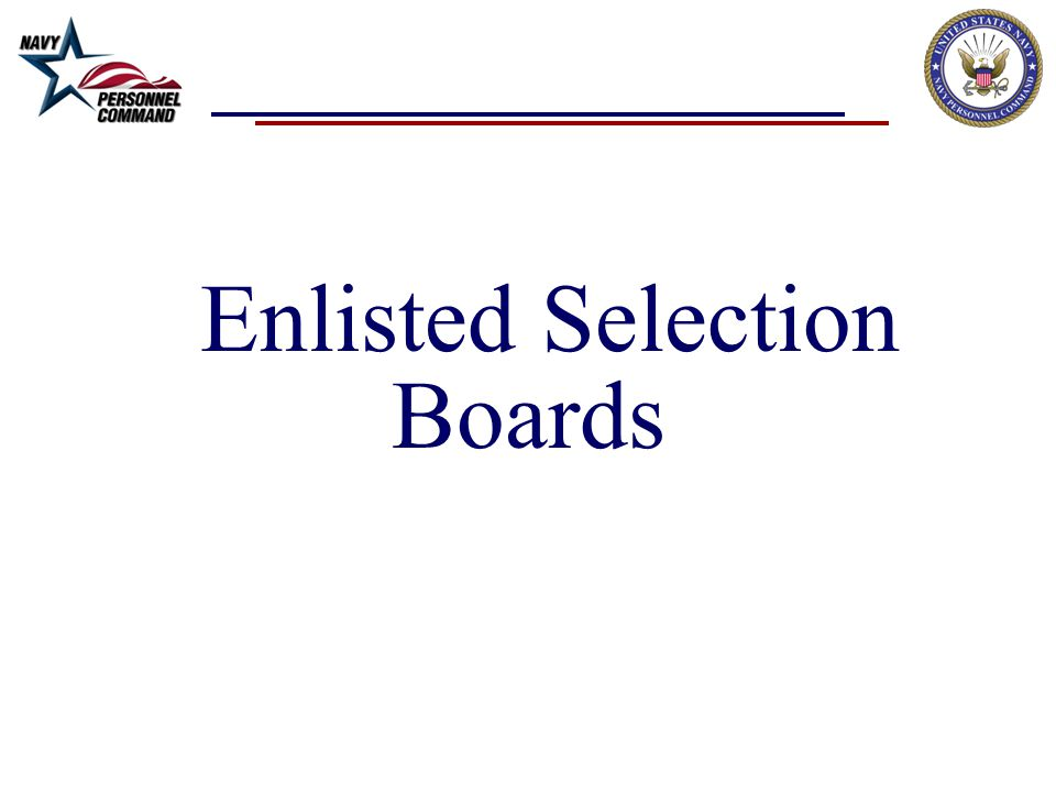 Enlisted Selection Boards