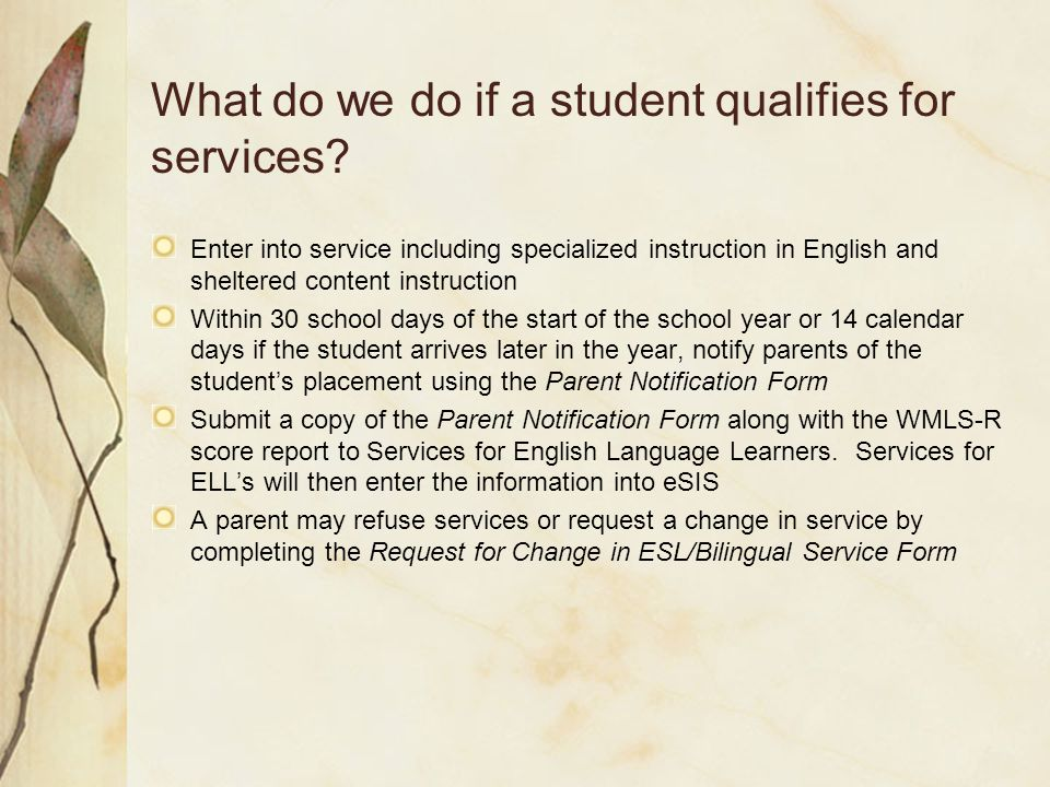 How do we determine eligibility for services.