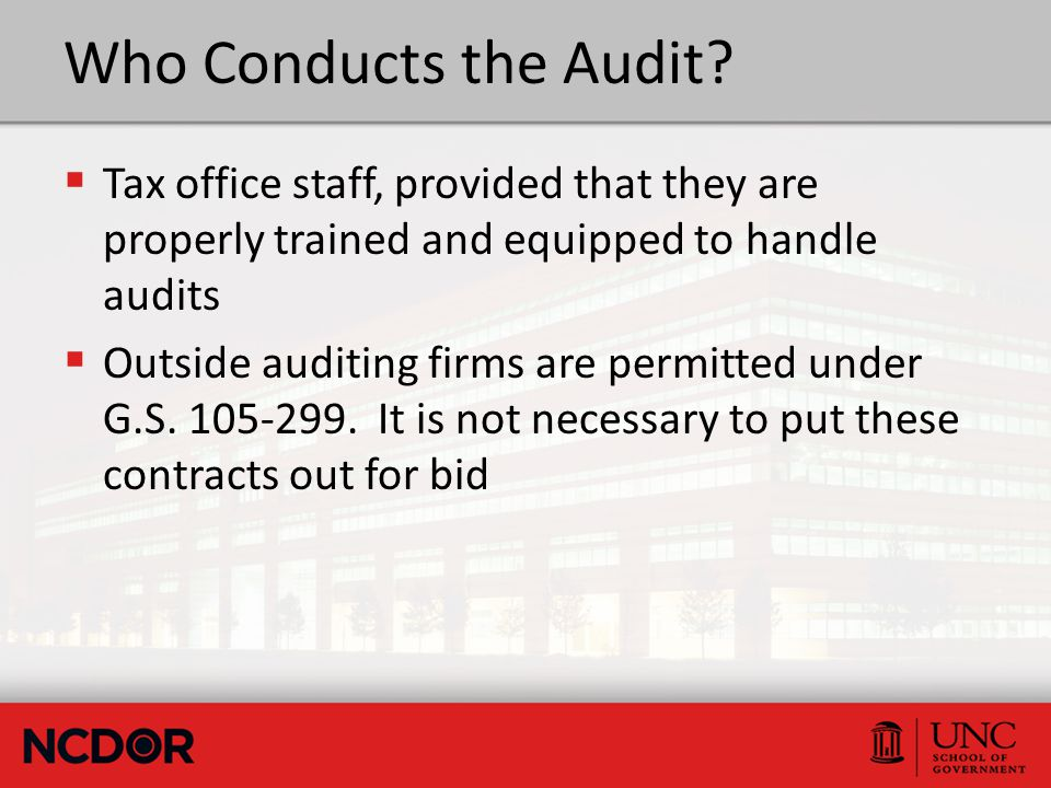 Who Conducts the Audit.