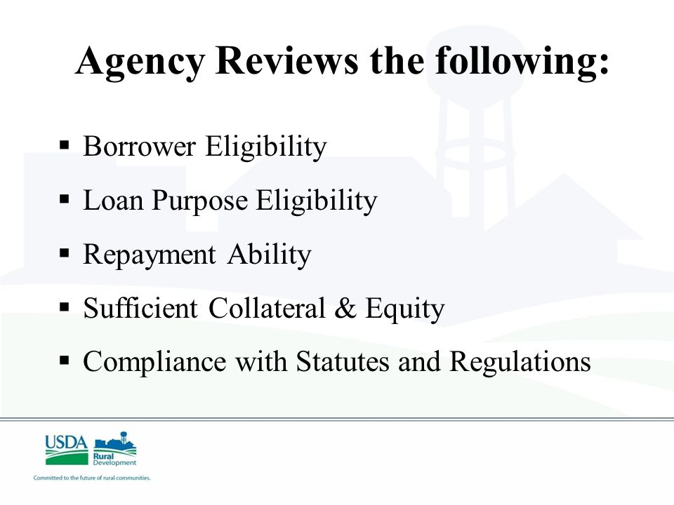 Loan Application  An assigned Loan Specialist is available by phone and in person to work with you in preparing loan application  Decisionmaking is local for loans within delegated authority ($5MM - $10MM in most states)  Pre-application enables lender to get a preliminary response without completing a full application.