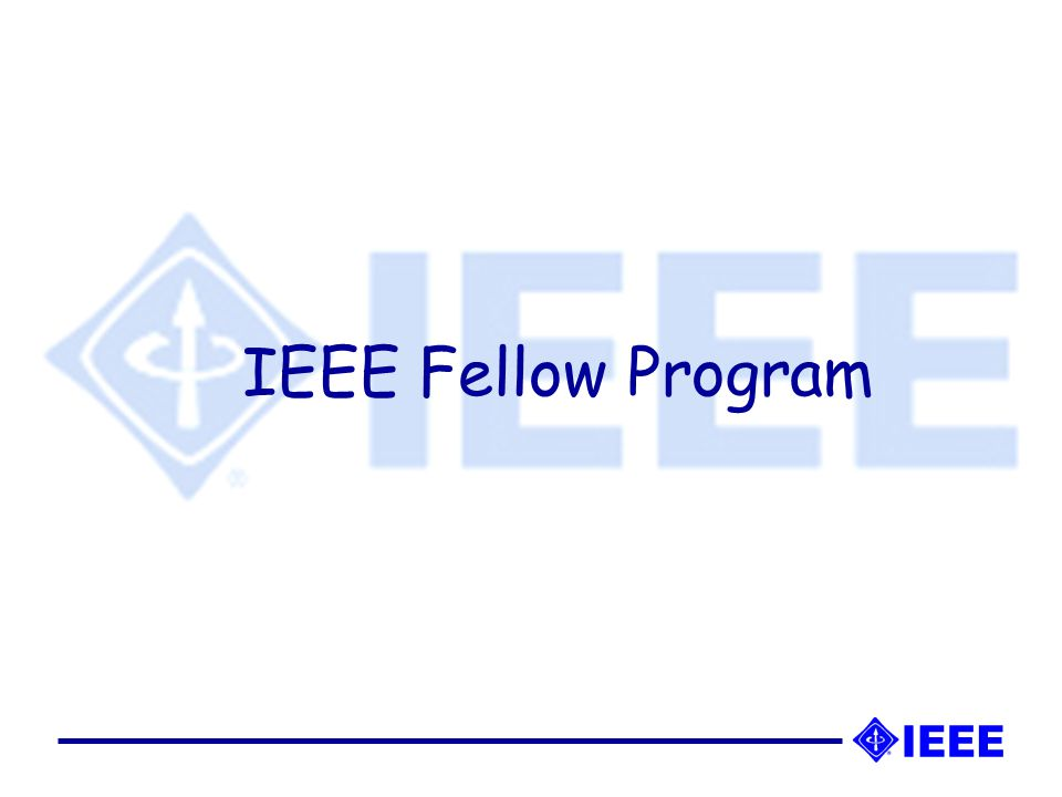 IEEE Fellow status is granted to a person with an extraordinary record of accomplishments in any of the IEEE's designated fields of interest.