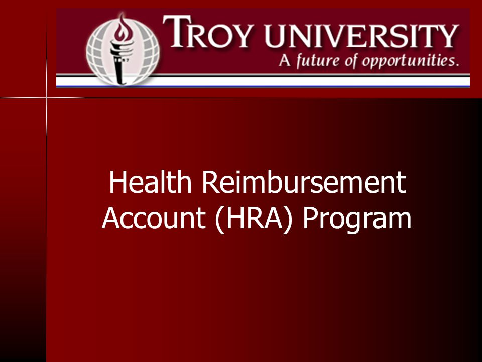 Health Reimbursement Account (HRA) Program