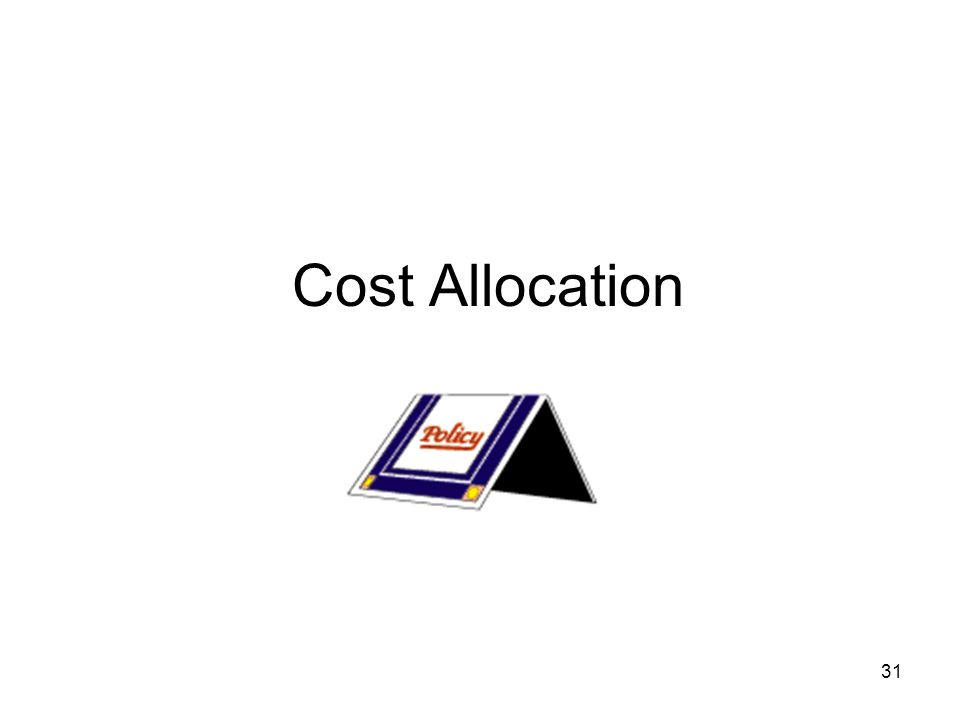 31 Cost Allocation