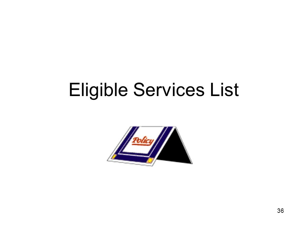 36 Eligible Services List