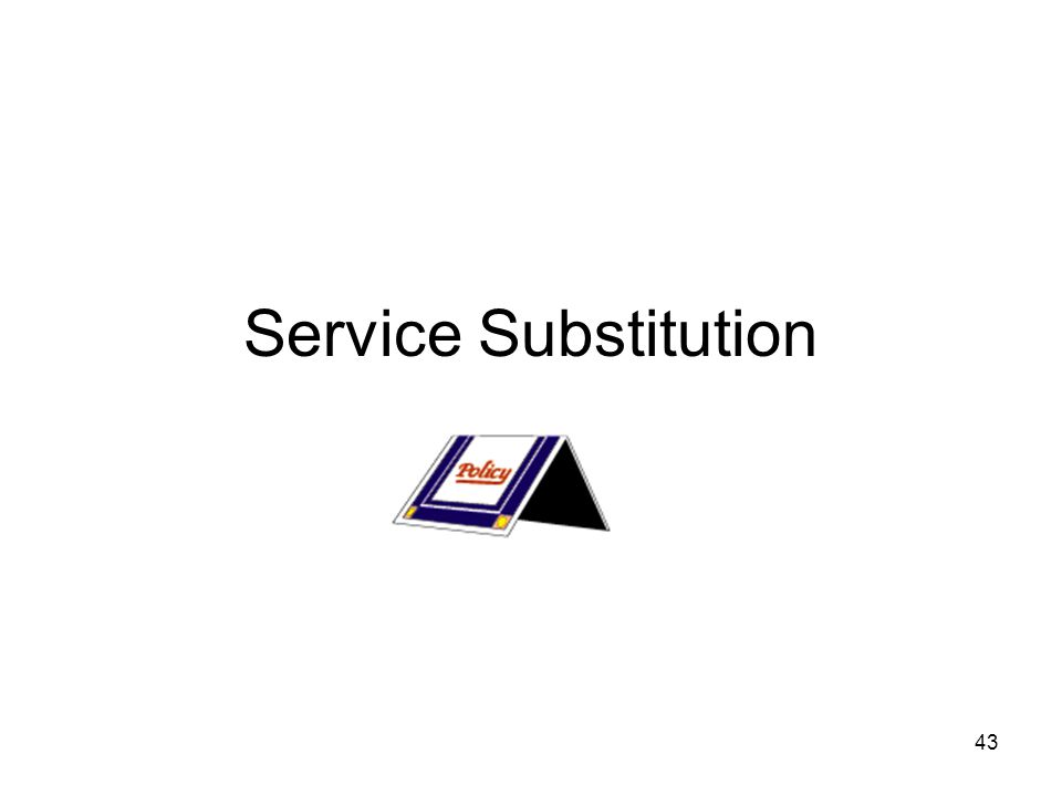 43 Service Substitution
