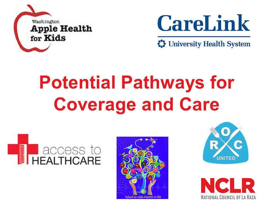 State and Local Pathways Washington Apple Health for Kids Health insurance for children up to 300% FPL Eligibility depends on income, eligibility for other programs, but not immigration status Comprehensive benefits Over 500,000 currently enrolled