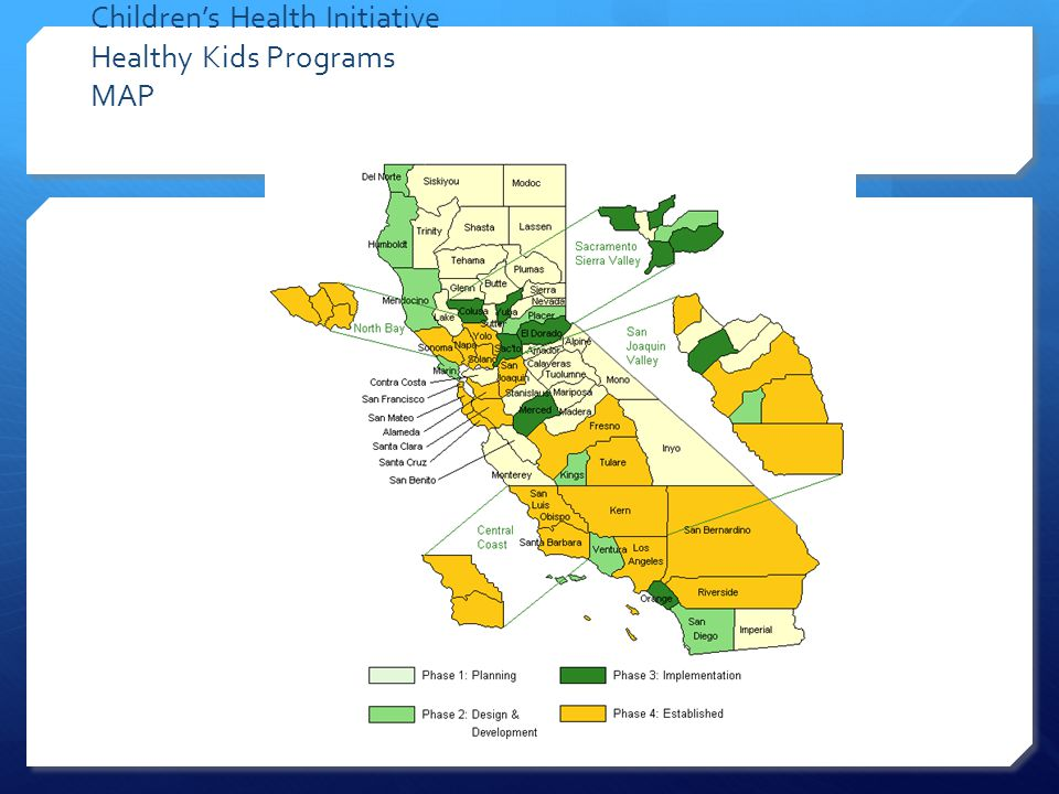 Children's Health Initiative Healthy Kids Programs MAP
